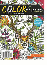 COLOR MAGAZINE, CREATE * RELAX & INSPIRE  JANUARY, 2016 ( FIND YOUR INNER ARTIST