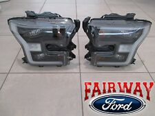 15 thru 16 F-150 OEM Genuine Ford Black Special Edition Headlamps LED Projector
