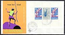 Suriname - 1969 Child welfare / Games miniature sheet - Clean unaddressed FDC!