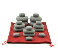 MassageMaster SET MASSAGGIO HOT STONE: 18 pietre basaltiche in sacchetto con coulisse