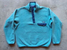 Vintage Patagonia Synchilla Fleece Pullover Snap-T Sweatshirt Size L Turquoise