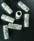 150pcs Tibetan Silver Wire Curved Tube Spacer Bead T27