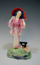 Royal Doulton Old Porcelain Figurine HN 1268 *Yum Yum* - Pink Gown/Green Base