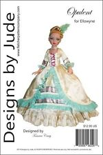 "Opulent Gown Doll Clothes Sewing Pattern for 16"" Ellowyne Wilde Tonner"