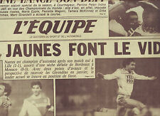 journal  l'équipe du 03/12/84 FOOTBALL NANTES LILLE MONACO BORDEAUX SKI PERRINE