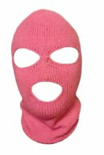 Pink Ski Mask For Woman Handmade 3 Hole Halloween Mask
