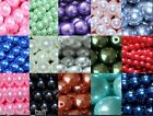6mm 100pcs 8mm 50pcs round glass pearl loose beads various colours buy4get1free