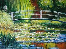 Claude Monet Lillies Pintura Al Óleo 30x20 no una impresión poster.box Enmarcado disponible