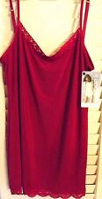 JOCKEY RED NO PANTY LINE PROMISE TACTEL LACE CAMISOLE SIZE MEDIUM  NEW  TAGS