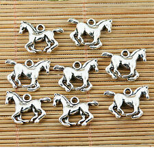 12pcs tibetan silver color 3D running horse charms EF1496