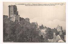lavardin , ruines du château et entrée avec pont-levis