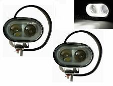 2x 10W 4D LENS OVAL CREE SPOT LED FOG/ WORK LIGHT For Mahindra KUV100
