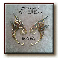 Steampunk Wire Elf Ears, Elf Ear Cuff, Ear Wrap