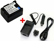 BP-808 Battery & Charger For Canon XA10 XA-10 Legria FS307 FS306 FS305 Camera