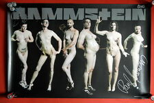 RAMMSTEIN ORIGINAL RARE FULLY SIGNED AUTOGRAPHED POSTER 2010 LIEBE IST FUR ALLE3
