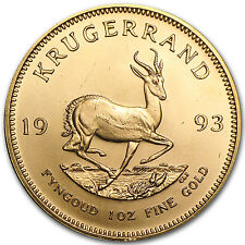 1993 1 oz Gold South African Krugerrand Coin - Brilliant Uncirculated -SKU#60330