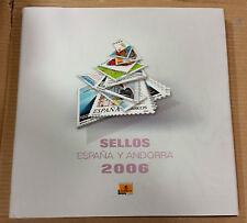 Libro Album de Correos de España y Andorra 2006 con filoestuches, SIN sellos