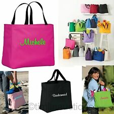 8 Bridesmaid Gift Personalized Tote Bag Wedding Party Monogrammed Embroidered