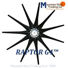 11 Black Raptor Series Blades™ and hub for Wind Turbines Made in the USA