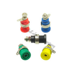 5Pcs 5 Color 4mm M12 Binding Post Connector Banana Plug Female Audio Hot Sale
