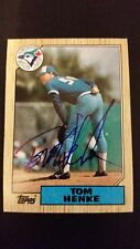 Tom Henke Blue Jays 1987 Topps #510 Rangers Authentic Signed Autograph JA15