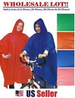 Rain Poncho Emergency Waterproof Coat Camping w/ Hood (WHOLESALE BULK LOT)