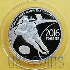 Russia Transnistria 2016 Iihf Ice Hockey World Championship 1/2 Oz Silver Coin