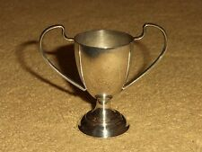 """SUPER QUALITY ANTIQUE SILVER PLATED MINIATURE 2.5"""" TROPHY LOVING GOBLET SHOT CUP"""