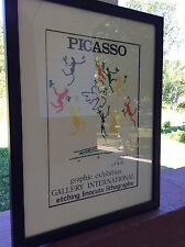 Pablo Picasso Vintage Gallery Exhibition Litho Dance Of Peace Framed/Matte *wow*
