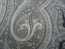 Schumacher Fabric ~ Pasha Paisley, Stone 100% Soft Pure Wool SOLD BY THE METRE