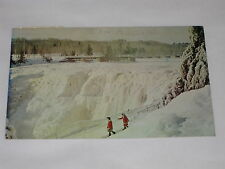 VINTAGE Kakabeka Falls Postcrad Niagara Of The North Winter Scene Ontario Canada