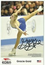 USA GRACIE GOLD  Signed 4x6 Promo 2014 Sochi Olympics