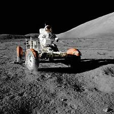 Lunar Rover Apollo 17 NASA picture space moon landscape art print & FREE PHOTO