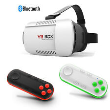 HOT VR BOX Virtual Reality 3D Glasses Bluetooth Remote Control For Smartphone