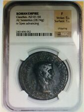 Roman Empire Claudius & Spes Sestertius 41-54 AD Certified by NGC