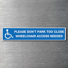 Wheelchair access parking sticker Premium Quality 7 year water/fade proof vinyl