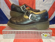 Vintage Style*Black T Bar Dr Doc Martens Mary Janes*Goth*Quirky*Punk*Lolita*Uk 6