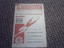 Scarborough v South Liverpool Football Programme 20/2/1971.