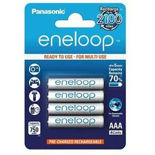 4x Panasonic Eneloop Micro AAA 750 mAh Rechargeable Battery Recharge 2100 times