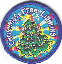 """""""CHRISTMAS TREE LIGHTING"""" PATCH - Iron On Embroidered Applique Patch/Holiday"""