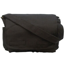 New Rothco Jack Bauer Black Canvas Messenger Tactical Laptop Carrying Bag