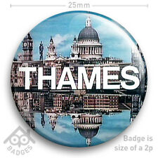 "THAMES TELEVISION TV Logo Badge ITV 1970's 1980's -  25mm 1"" Badge"