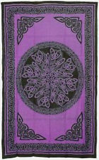 Celtic Knots Bedspread, Purple: Tapestry, Wall Hanging or Altar Cloth! 72 x 108