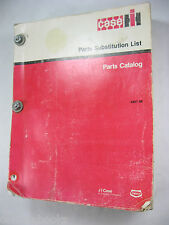 CASE PARTS SUBSTITUTION LIST CATALOG X907-86  MANUAL BOOK