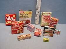 Packaged Grocery Store Selection (3 Each 11 different) -  Dollhouse Miniatures