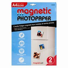 2 Sheets of A4 MAGNETIC GLOSS PHOTO PAPER FOR INKJET PRINT - BRAND NEW