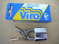 "VIRO ITALY MARINE SERIES 1 1/2"" PADLOCK No 373 NEVER RUST 40mm BEST QUALITY NEW"
