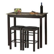 Bar Height Dining Set Table Stools Pub Chair Counter Kitchen Breakfast Furniture