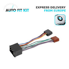 BMW Wiring Lead Harness Adapter ISO Radio Replacement Adaptor (round pin plug)