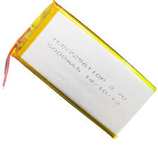 3.7V 6000mAh 7256110 Li-Po Polymer Rechargeable Li Battery For GPS Tablet PC DVD